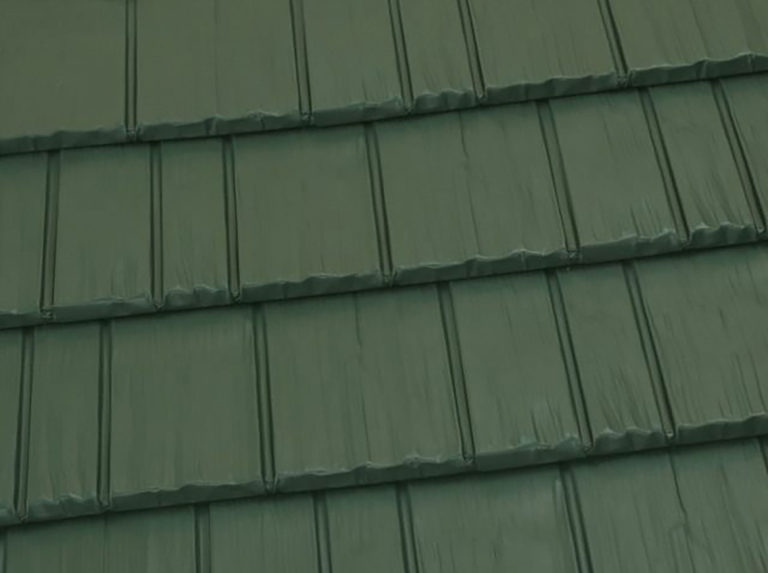 forest green shingles