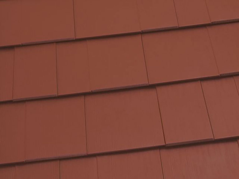 terra red shingles